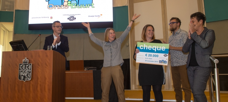 Byeboere en Project KOE winnaars Onze Buurt 2019